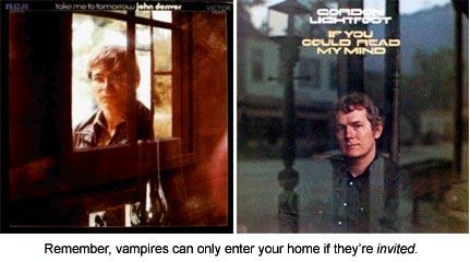 John Denver and Gordon Lightfoot Album Covers