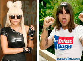 Did Lady Gaga ripoff Anthony Kiedis?